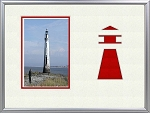 Childrens Nautical Red Lighhouse Beach Table Top Photo Frame 8x10 Holds 4x6 Photo