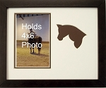 Brown Horse Equestrian Photo Frame Holds 5x7 Photo Brown Frame