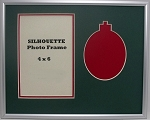 Holiday Christmas Red Silhouette Ornament Photo Frame 8x10 with 4x6 Photo Opening