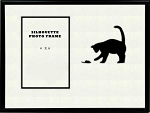 Black Animal Cat and Mouse Pet Photo Frame Table Top 8x10 Holds 4x6 Photo Opening
