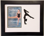 Wall Hanging Gymnast-gymnastics 8x10 Photo Frame Holds 4x6 Photo Black frame