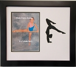 Wall Hanging Gymnast, Gymnastics 9x11 Photo Frame Holds 5x7 Photo Black Frame
