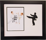 Wall Hanging Martial Arts Karate 9x11 Photo Frame Holds 5x7 Photo