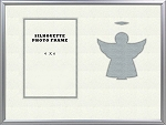 Tabletop childrens Silver Angel Christian Photo Frame 8X10 Hold 4 X 6 Photo