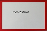 Red Wood Dry Erase Wipe Off Board with wood frame 11x17