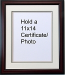 Certificate Document 11x14 Triple Matted Mahogany Frame