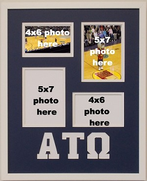 Alpha Tau Omega Fraternity 16x20 collage photo mat and wall mount frame for 5x7 and 4x6 photos