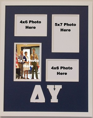 Delta Upsilon Fraternity 16x20 collage photo mat and wall mount frame for 5x7 and 4x6 photos
