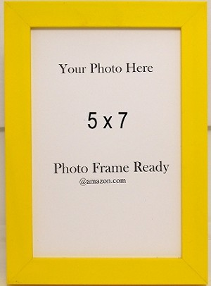 Tabletop Photo Frame Wood 5x7 Bright Yellow Childrens Accessories