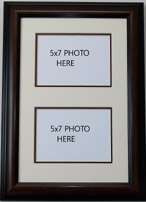 wall mount double photo frames multimat holds two2 5x7 photos