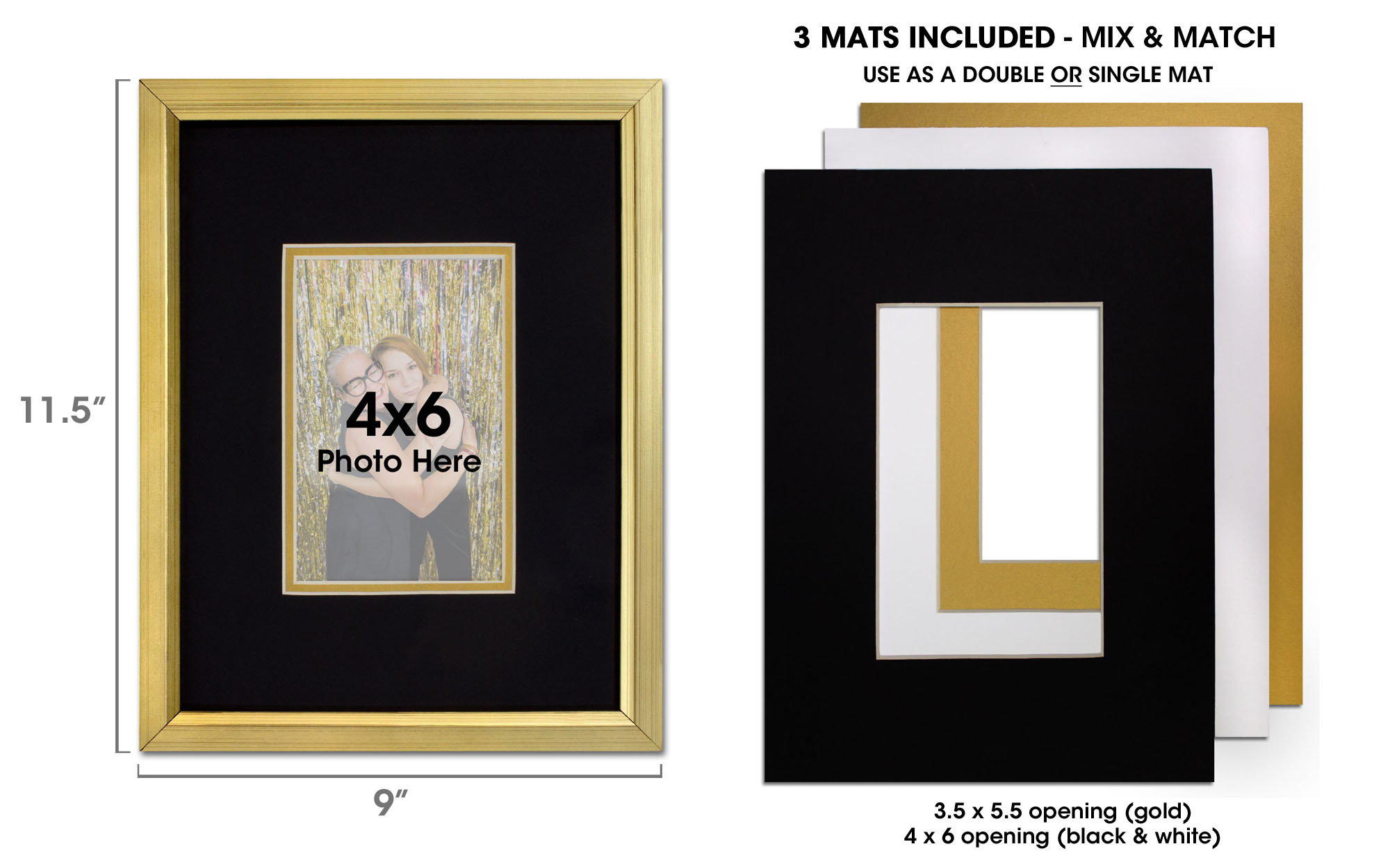 Gold Picture Frame For 4x6 Photo