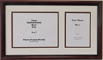 Diploma Frames with Photo Openings