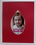 Christmas Ornament 8x10 Tabletop Photo Frame 4 x 6 Photo