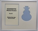 Holiday Winter Snowman Photo Frame 8x10 for 4x6 photo