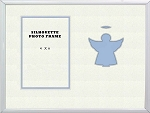 Childrens Christian Blue Angel Infant Boy Photo Frame 8x10 Hold 4x6 Photo