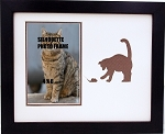 Brown Kitty Cat & Mouse Photo Frame 8x10 holds 4x6 photo