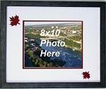 Canadian Maple Leaf 150 Year Celebration Wall Mount Red and White 8x10 Picture Frame with double maple leafs Black moulding