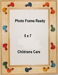 Table Top Photo Frame Wood 5x7 Cars Auto Design