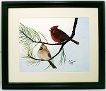 Audubon Cardinal Wildlife Bird Print 10 X 12 Wall Decor Framed Print