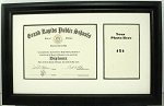 High School Certificate Diploma 6x8 with Photo 4x6 Black Frame