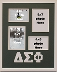 Delta Sigma Phi Fraternity 16x20 memory collage photo frame holds two(2) 5x7 and two(2) 4x6 photos