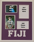 Phi Gamma Delta FIJI Fraternity 16x20 memory collage frame for two(2) 5x7 and two(2) 4x6 photos