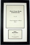 Certificate 8x10  with Landscape Photo 4x6  creme and black frame-Duo certificate purpose