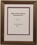 Wall Mount Photo Frame with Bronze Brown Crackle Wood Moulding Holds 8x10 Photo Document or Certificate
