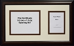 Graduation University Diploma Certificate Photo Frame Matted Holds 9.5x7.5 Certificate with 5x7 Photo Opening Brown Frame
