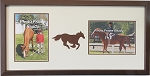 Wall Hanging Brown Horse Equestrian Double Photo Frame Holds Two 5x7 Photos Brown Frame