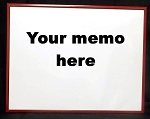 Red Dry Erase Reminder Board 10.5x13.5