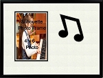 Music Photo Frame 8x10 Eighth Note Holds 4x6 Photo Black & White