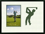 Golf Photo Frame 8x10 Holds 4x6 Photo Creme and Green Mats