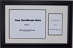 Certificate 8x10 Diploma with Photo 4x6 photo placement holder..Creme and black unit.  Duo certifice