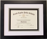 Graduation High School Diploma 6 X 8 Certificate Triple Matted Black Frame