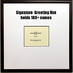 Signature Memory Greeting Mat Framed for 8x10 photo Extra Large