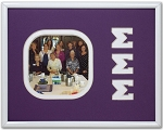 Sigma Sigma Sigma Sorority Frame holds 4x4 square photo wall mount
