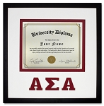 Alpha Sigma Alpha Diploma document certificate frame red and black