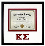 Kappa Sigma Diploma document certificate frame red and black