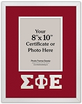 Sigma Phi Epsilon Fraternity standard certificate or photo frame 8x10 opening wall mount red and white