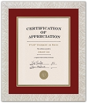 Red & Gold Fraternity or Sorority Recognition Document Frame to hold an 8x10 certificate