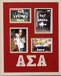 Alpha Sigma Alpha Sorority 16x20 memory collage frame holds two(2) 4x6 and two(2) 5x7