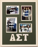 Alpha Sigma Tau Sorority 16x20 memory collage photo frame holds two(2) 4x6 and two(2) 5x7