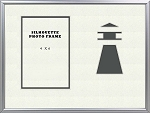 Table Top Childrens Nautical Grey Lighhouse Beach 8x10 Photo Frame Holds 4x6 Photo 4 X 6