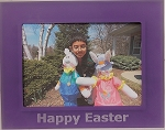 Happy Easter Purple Acrylic Tabletop Photo Frame 5x7