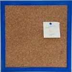 Blue Cork Board 12 x 12