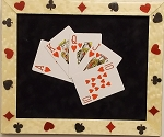 Casino Framed Royal Flush Cards Wall Art Decorfor the Home-Hearts