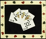 Casino Framed Royal Flush Cards Wall Art Decorfor the Home-spades