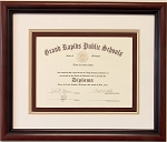 Graduation High School Diploma 6 X 8 Certificate Triple Matted Cherry Wood Frame
