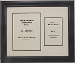 Graduation High School Diploma 6x8  PORTRAIT Certificate with 4x6 Photo Black Frame